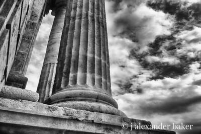 Roman Column, old Roman gate, Cordoba, Spain