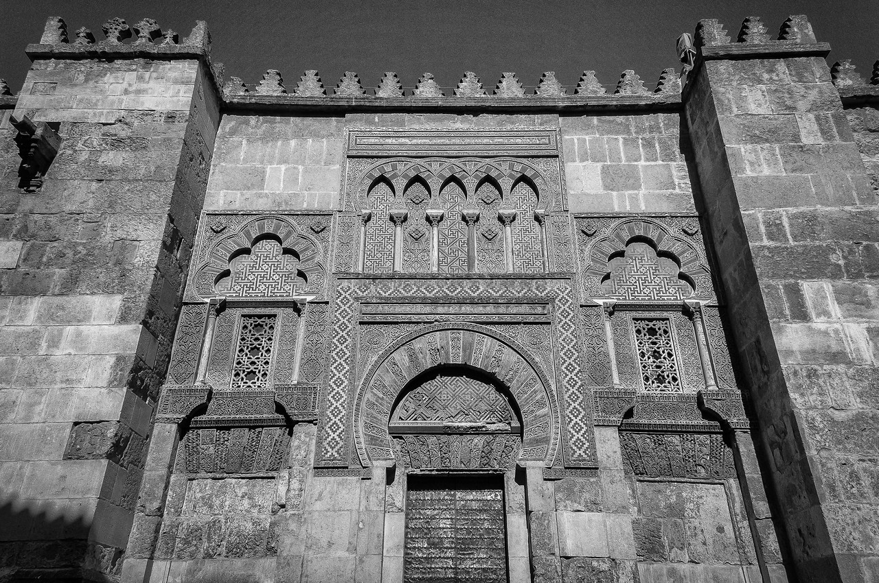 Mosque of Cordoba facade in Cordova, Spain