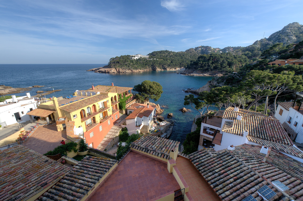 Overlooking view of the ocean at Costa Brava, Spain