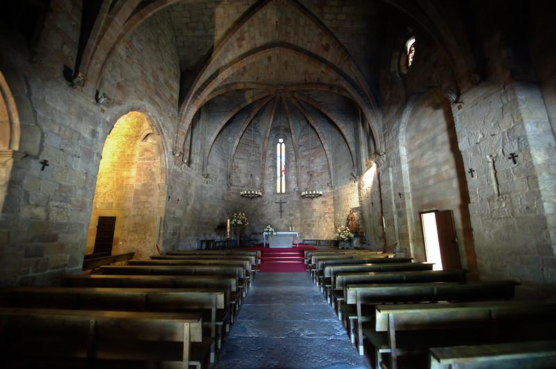 Gothic Church of Pals in Costa Brava, Spain