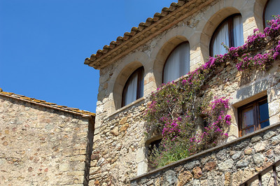Stone houses or buildings in Costa Brava, Spain