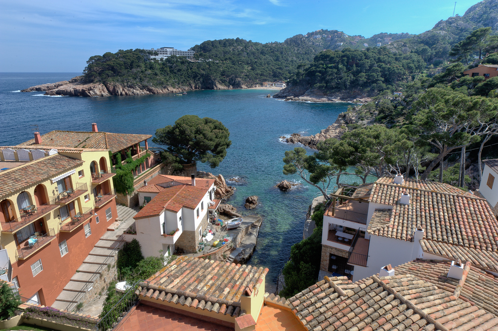 The view from the Hotel Aigua Blava in the Costa Brava Region of Spain