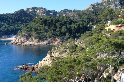 A cove with rocks and cliffs in Costa Brava, Spain