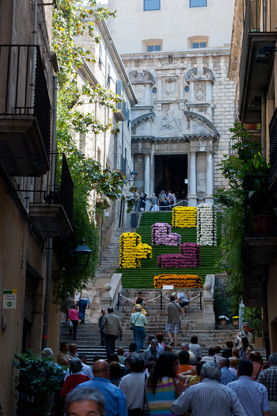 Staircase to the Convent of Sant Domenec in Costa Brava, Girona, Spain