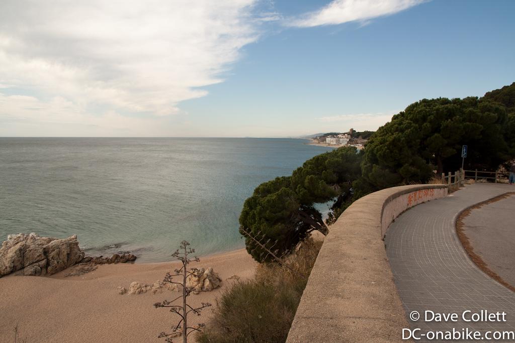 Looking back towards Mataro and Barcelona