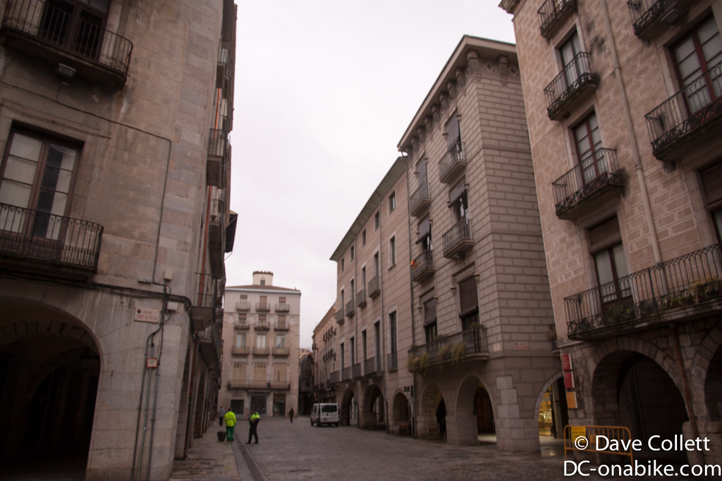 A relatively open street in Girona