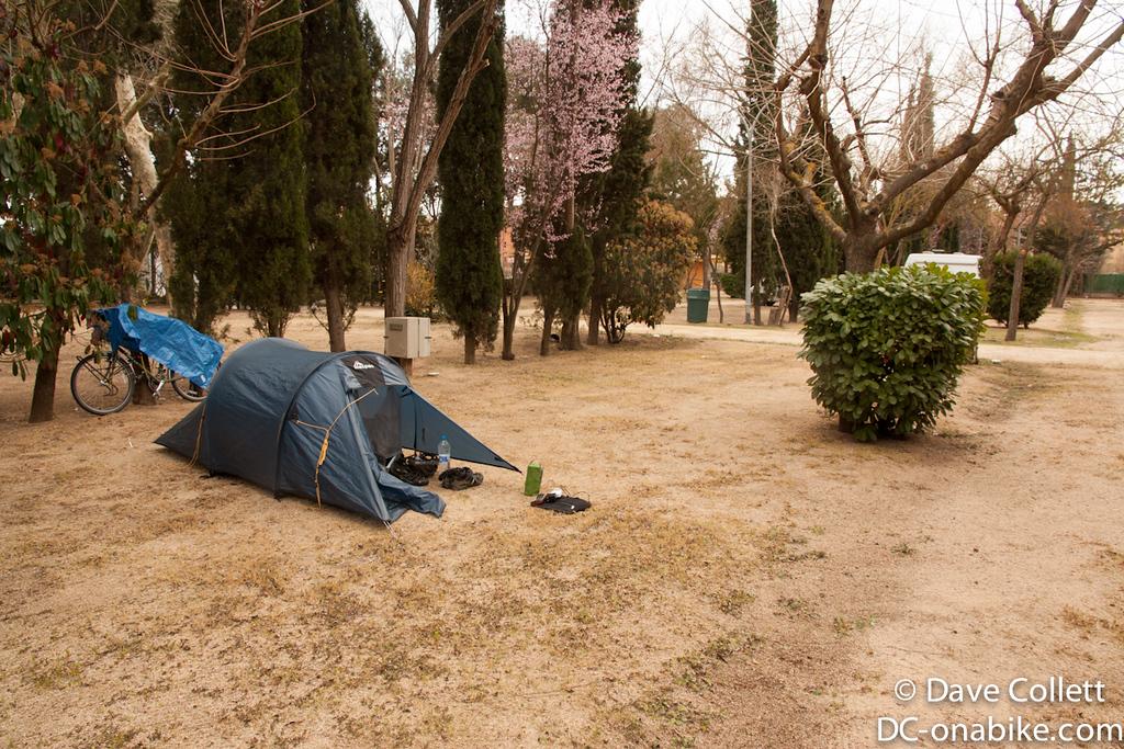 Campsite for the night in Lloret de Mar