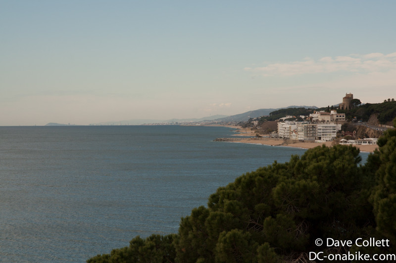 Looking back towards Mataro and Barcelona