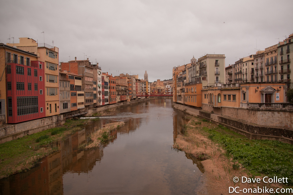 River in Girona (looking North)