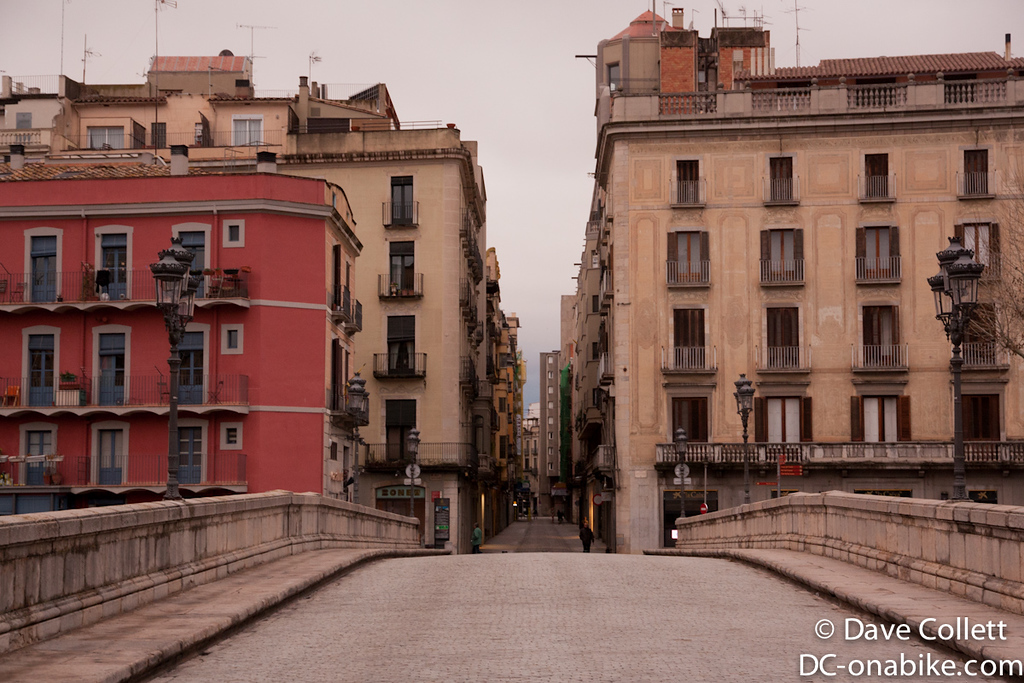 Bridge and street in Girona