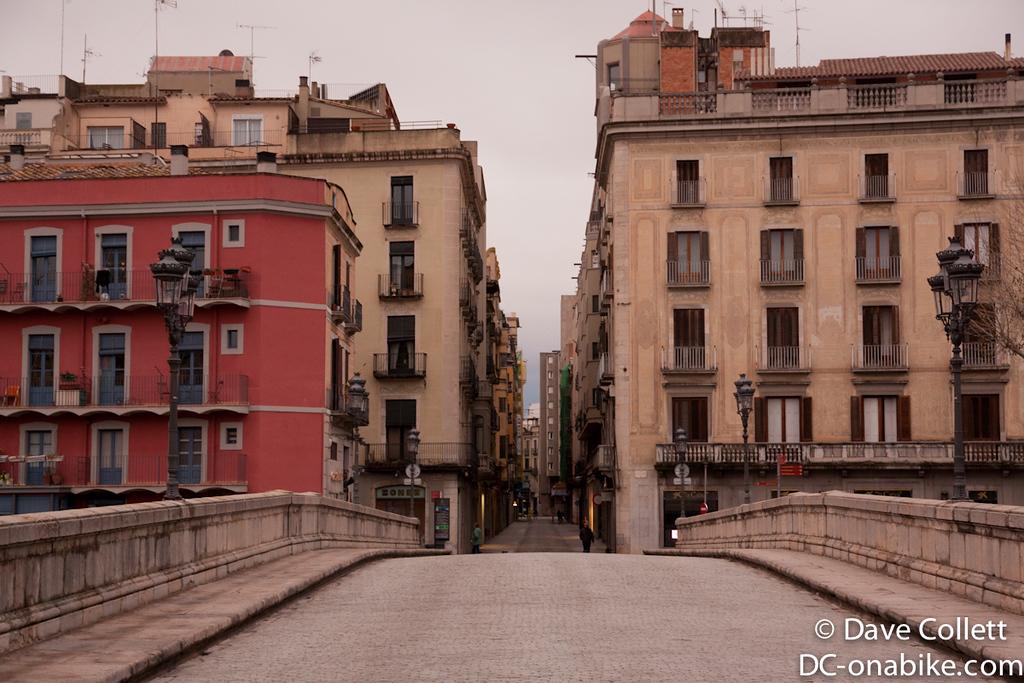 Bridge and street in Girona