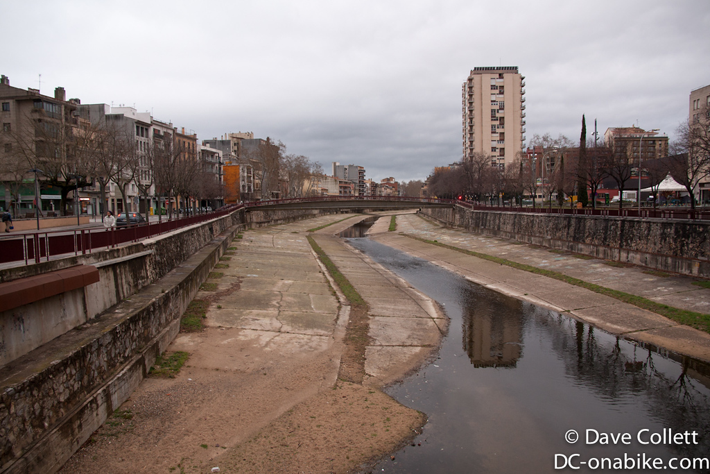 River in Girona (looking South)