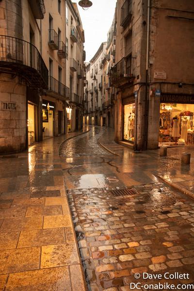 Wet Girona Street