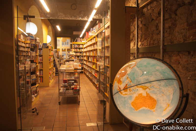My favourite shop in the world (a travel book/guide, map, globe shop!).