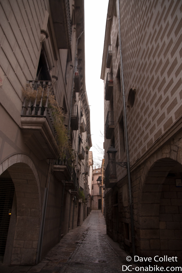 A more narrow street in Girona