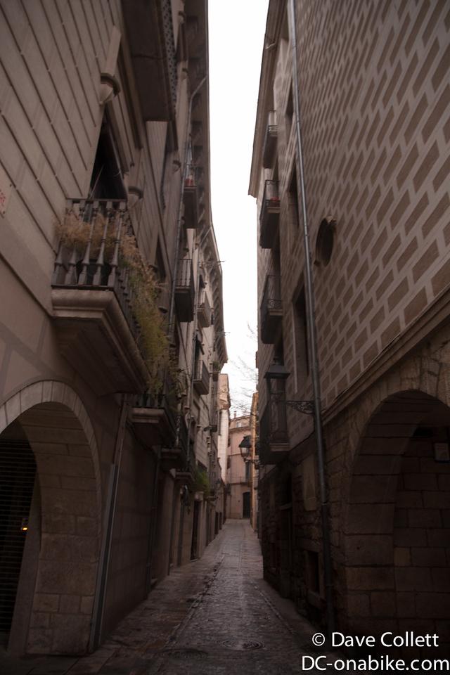 A more narrow street in Girona