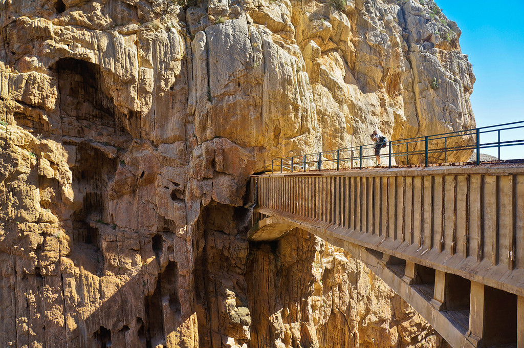 Taking in the views at Caminito del Rey in Spain