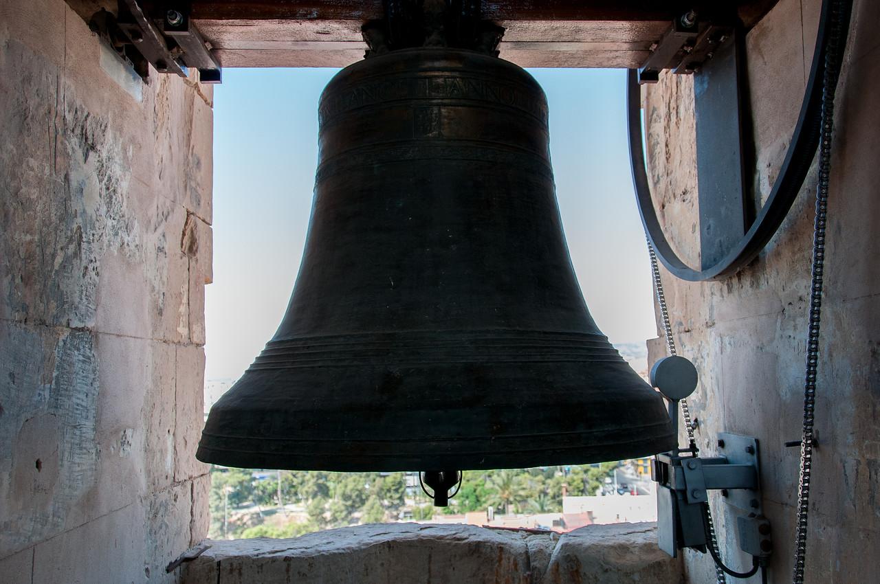 Up on the bell tower of Basílica de Sta. María, Elche (Elx), Alicante, Spain