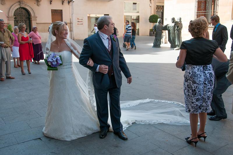 Wedding at Basilica de Santa Maria in Elche, Alicante, Spain