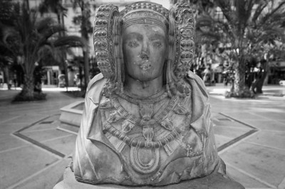 Lady of Elx statue at the Palmeral of Elche - Spain