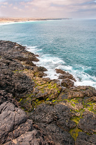 Rocky coastline in Fuerteventura, Canary Islands, Spain