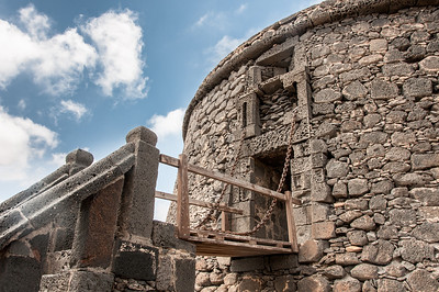 Ancient Castle in Caleta de Fuste in Fuerteventura, Spain