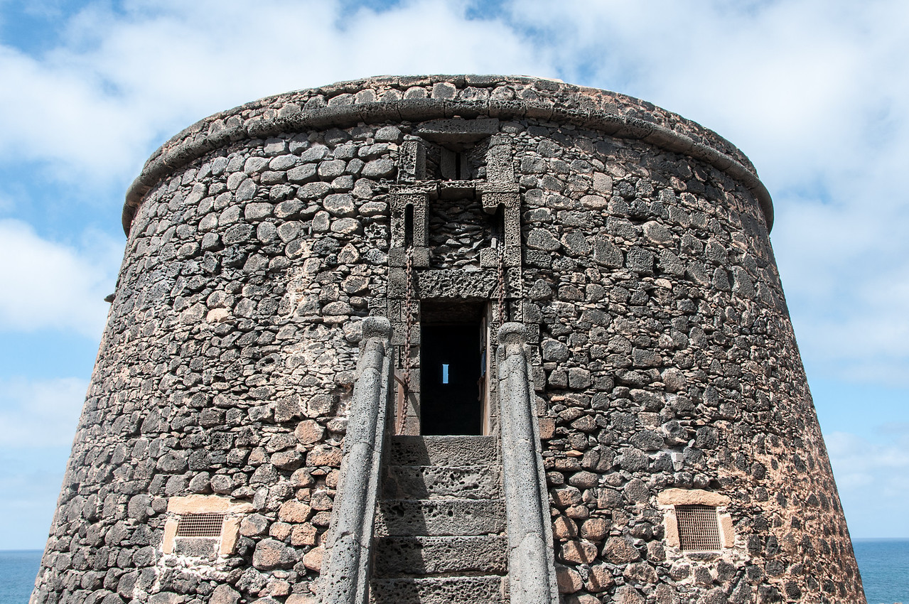 Ancient Castle in Caleta de Fuste in Fuerteventura, Spain