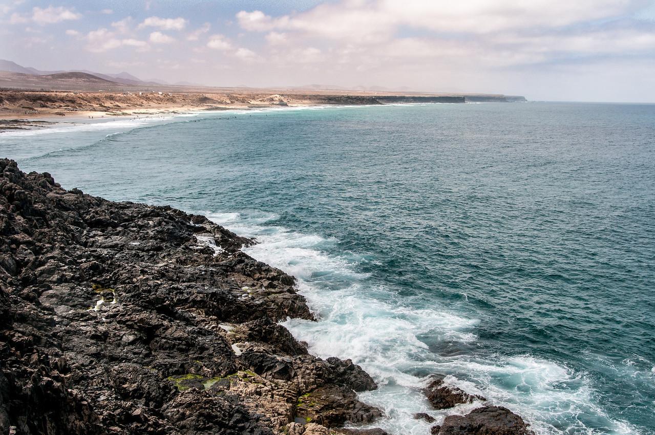 Rocky coastline in Fuerteventura, Canary Islands, Spain