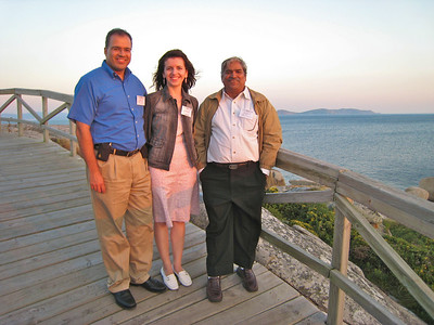 With Dinesh, Steffen's colleague from India.