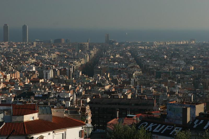 Park Güell commands a stunning view of Barcelona below it