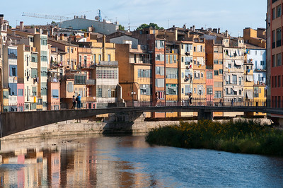 Girona Bridge over Onyar River in Girona, Spain