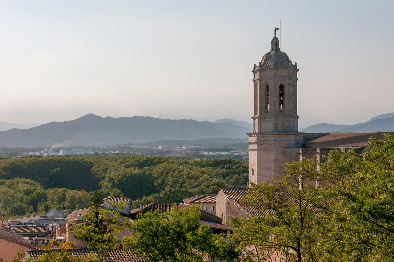 Tower of Girona Cathedral in Girona, Spain