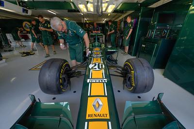 Race car being prep for the race - Valencia, Spain