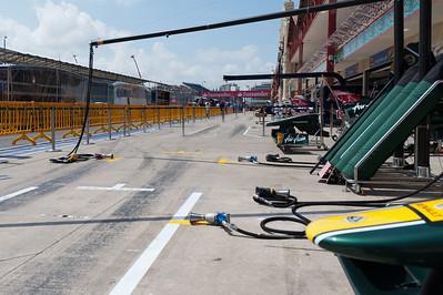 The racing circuit at the 2011 European Grand Prix - Valencia, Spain