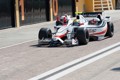 Formula One racecar competing at the 2011 European Grand Prix - Valencia, Spain