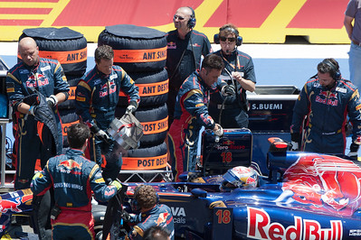 Pit stop during the 2011 European Grand Prix - Valencia, Spain