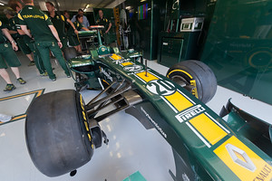 In the Team Lotus Garage