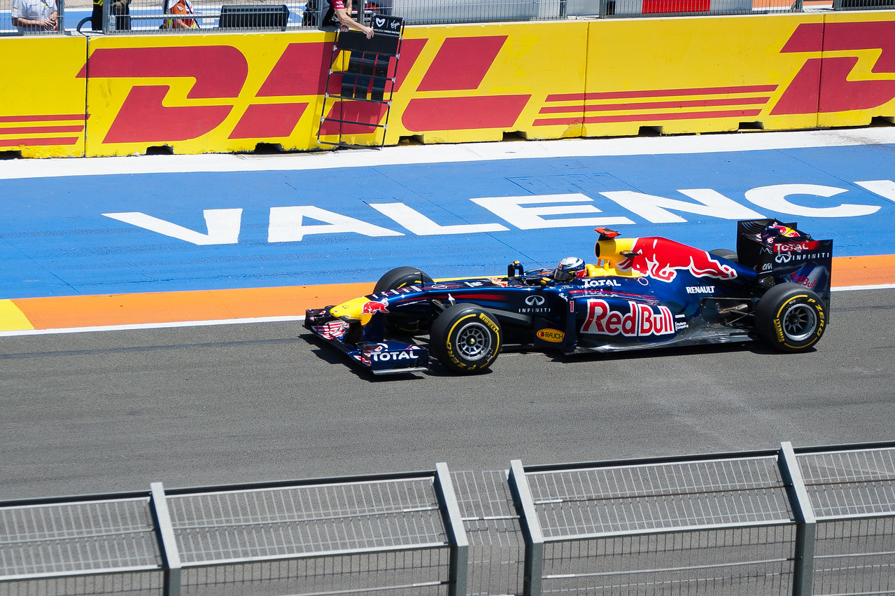 Ongoing race at the 2011 European Grand Prix - Valencia, Spain