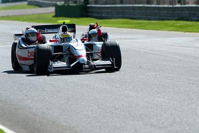 Formula One race car competing in European Grand Prix - Valencia, Spain