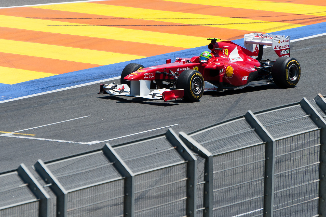 One of the racing cars at the 2011 European Grand Prix - Valencia, Spain