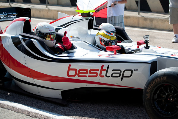 Riding in a F1 car