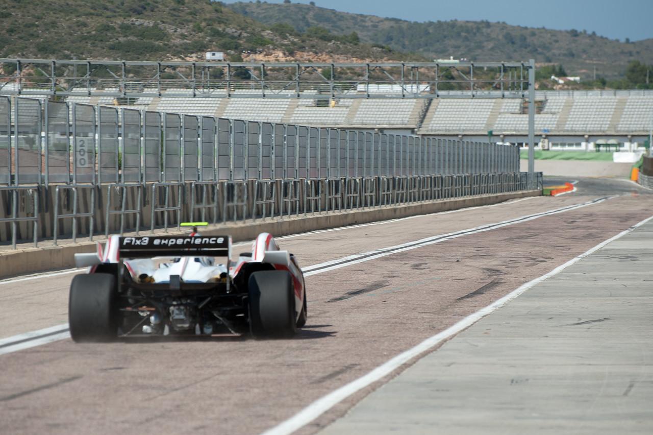 Formula One race car onto the circuit in 2011 European Grand Prix - Valencia, Spain