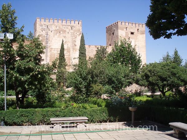 Alhambra - Alcazaba from Cistern Square