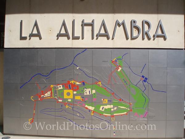 Alhambra - Entrance Sign