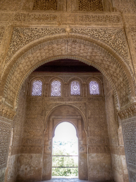alhambra arabic walls