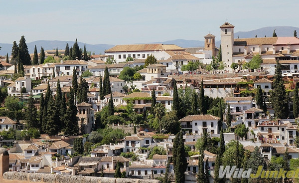 Old Town Albayzin as seen from Alhambra