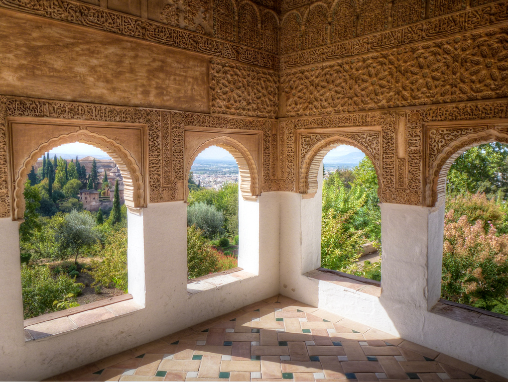 inside alhambra granada spain