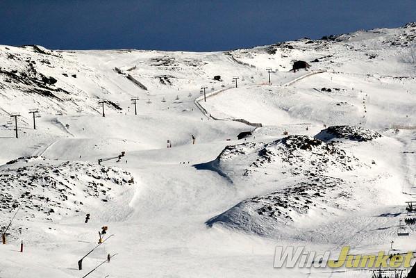 Ski pistes of Sierra Nevada