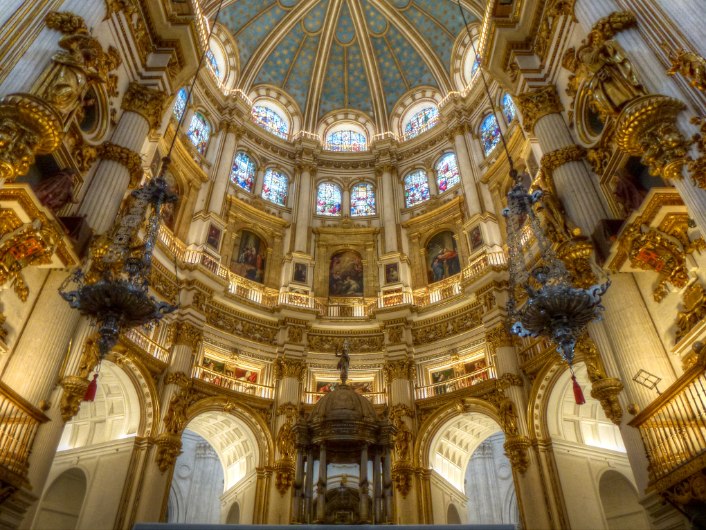 The Dome Of The Granada Cathedral In Spain