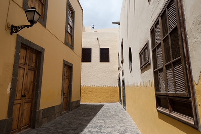 Traditional architecture in Las Palmas, Gran Canaria, Spain